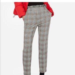 Express plaid high waist pants